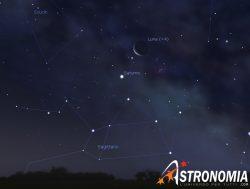 Congiunzione Luna - Saturno, giorno 11 ore 6