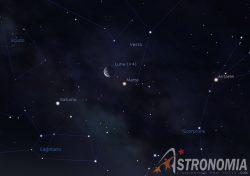 Congiunzione Luna - Marte, giorno 10 ore 5