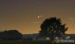 Congiunzione Luna - Venere, giorno 17 ore 20:30