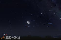 Congiunzione Luna - Marte, giorno 6 ore 2