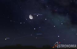 Congiunzione Luna - Saturno, giorno 5 ore 2
