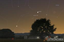 Congiunzione Luna - Venere, giorno 17 ore 21