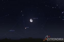 Congiunzione Luna - Marte, giorno 3 ore 01:00