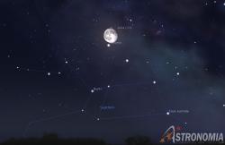 Congiunzione Luna - Saturno, giorno 1 ore 01:00