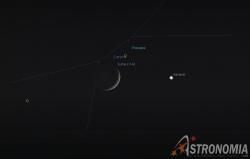 Congiunzione Luna - Venere, giorno 16 ore 23:00