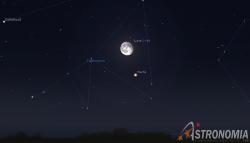 Congiunzione Luna - Marte, giorno 1 ore 00:30