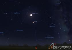 congiunzione Luna - Marte, giorno 23 ore 23