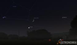 congiunzione Luna - Venere, giorno 14 ore 21