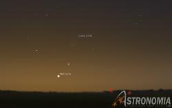 Congiunzione Luna - Mercurio, giorno 8 ore 6