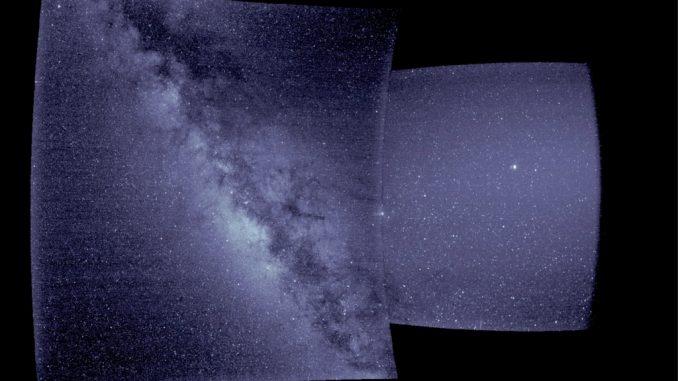 Il cielo visto da WISPR Credito: NASA / Naval Research Laboratory / Parker Solar Probe