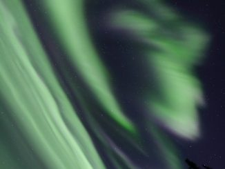 Meravigliosa aurora ripresa in Alaska da Ayumi Bakken