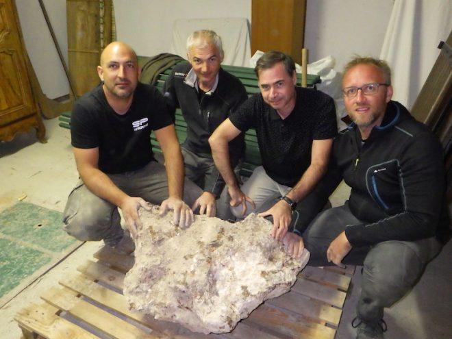 Gli studiosi del SAF e il blocco di meteorite record
