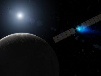 rappresentazione artistica della sonda Dawn. Credit NASA