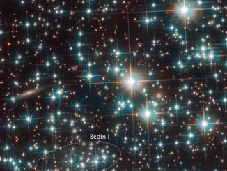 concentrazione di stelle all'interno dell'ammasso globulare NGC 6752.