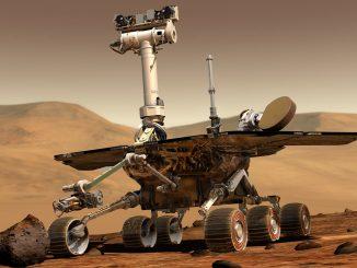 Immagini artistica del rover Opportunity