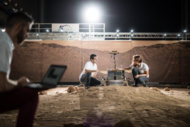 Operazioni di test al cantiere Mars di ROCC