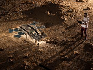Modello del rover ExoMars al centro di controllo. Fonte ESA