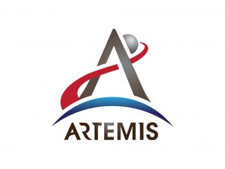 Il logo della missione Artemis