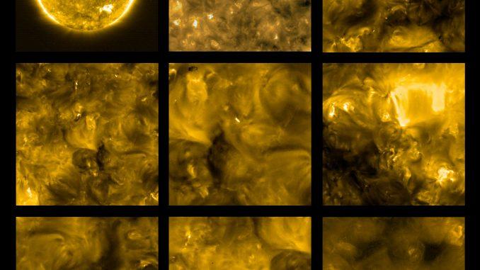 Prime viste del Sole, riprese dal Solar Orbiter a maggio del 2020. Credit ESA