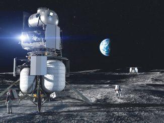 Lander su suolo lunare