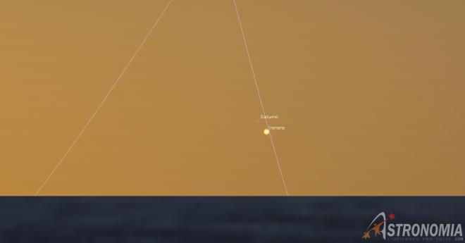 Congiunzione Venere - Saturno, giorno 6 ore 7