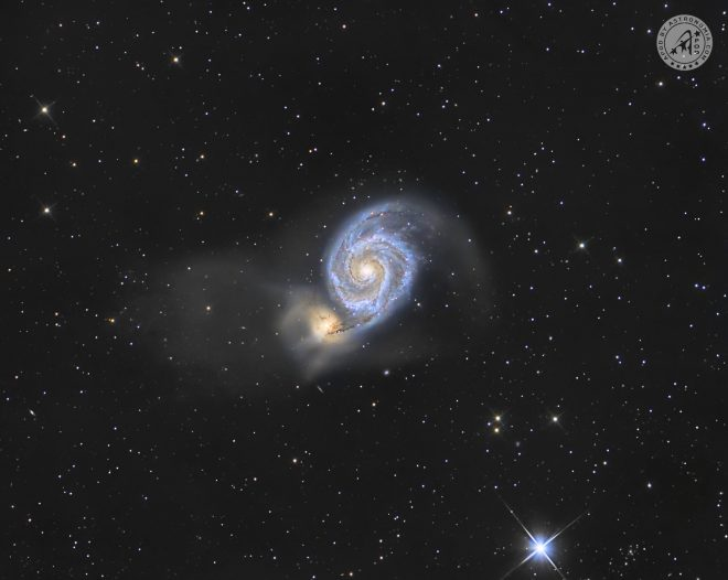 Galassia Vortice M51 - Credits: Alexandre Piquelin - vincitore APOD del 4 Aprile 2021