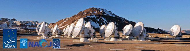 Immagine del telescopio terrestre ALMA. Fonte: Eso